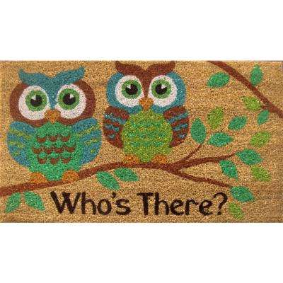 Fiesta Multi 22 in. x 36 in. Coir Outdoor Mat