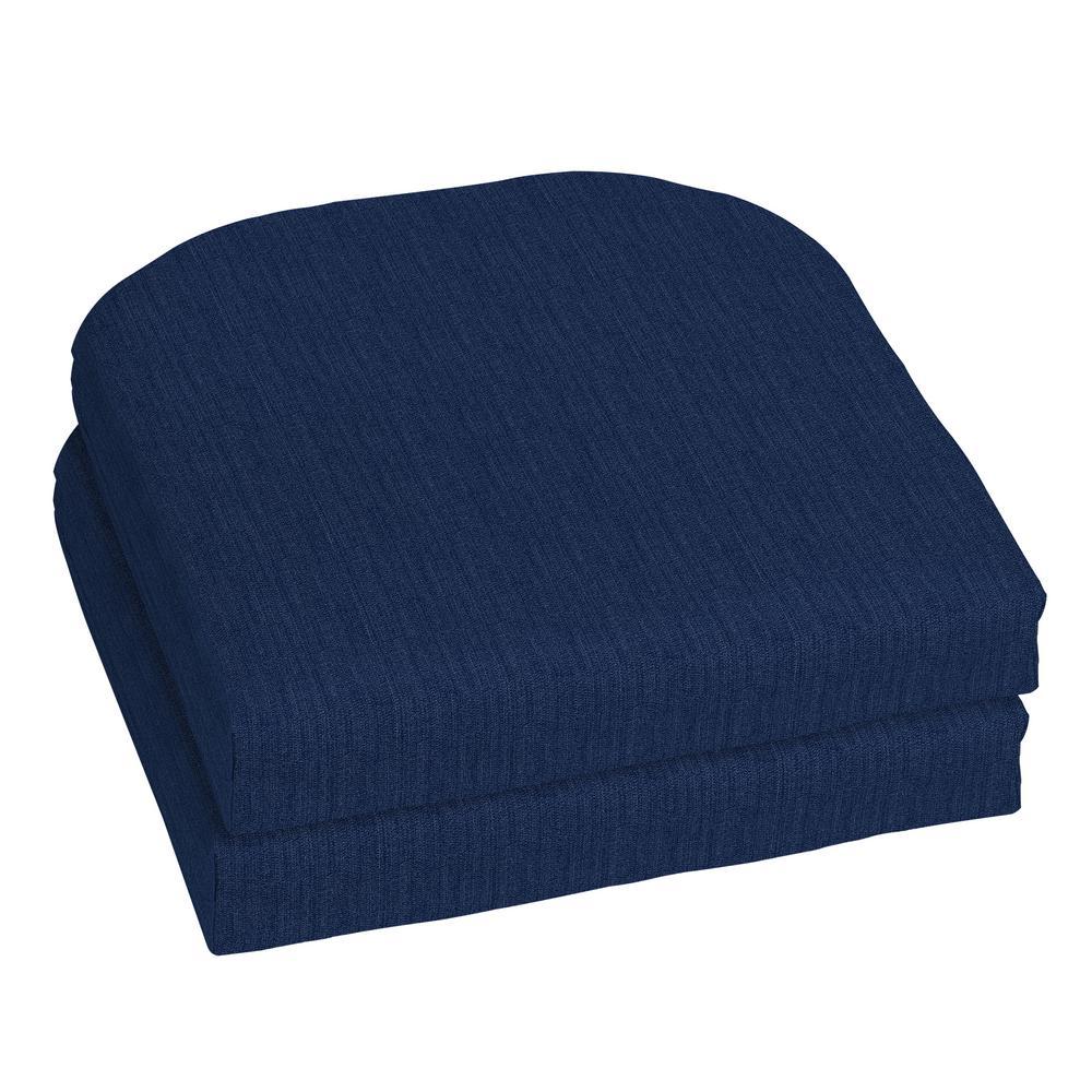 18 x 18 Sunbrella Spectrum Indigo Outdoor Chair Cushion (2-Pack)