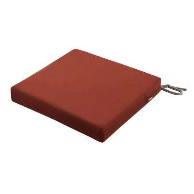 Ravenna Spice 21 in. W x 21 in. L x 3 in. T Square Outdoor Seat Cushion