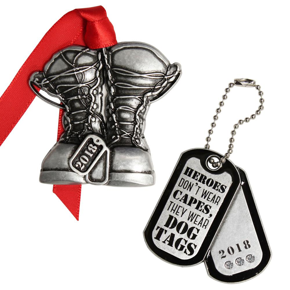 Gloria Duchin Combat Boots and Heroes Dog Tags-7347 - The Home Depot
