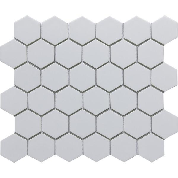 Concept Gray 10.63 in. x 12.4 in. Honeycomb Semi-gloss Glass Mosaic Tile (0.915 sq. ft./Each)