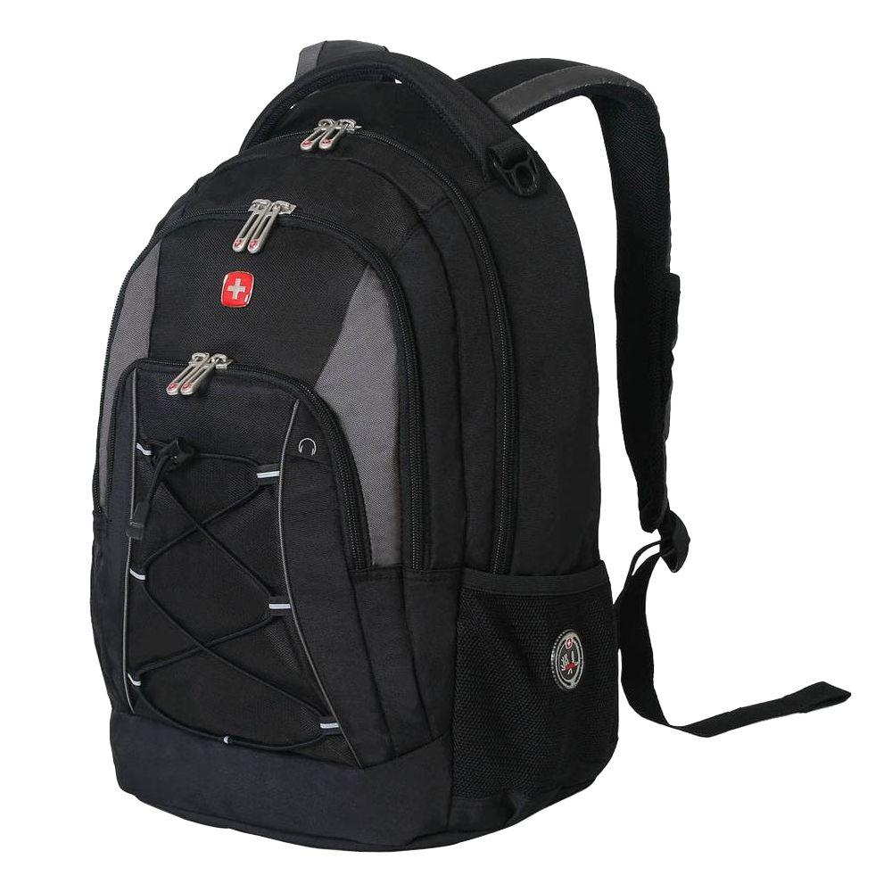 94fa58c6c246 SWISSGEAR Black and Grey Bungee Backpack-11862415 - The Home Depot