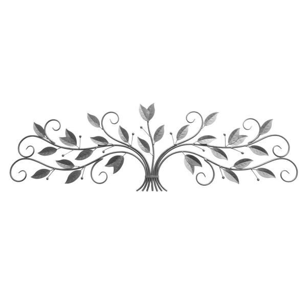Three Hands Metal Silver Wall Decoration 87888 The Home Depot