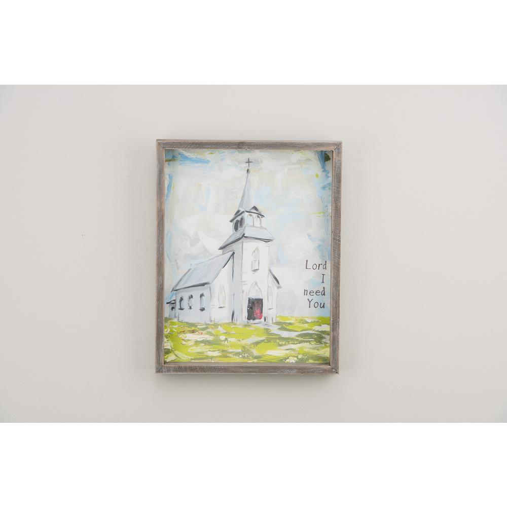 Lord I Need You 11x14 Framed Canvas-1190008 - The Home Depot