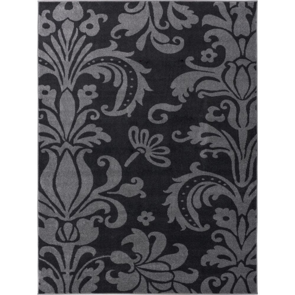 Well Woven Electro Rosetta Grey 3 ft. 3 in. x 4 ft. 7 in. Modern Area Rug