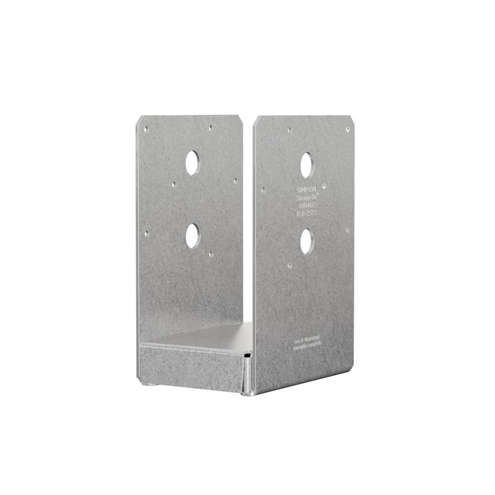 4 in. x 6 in. 12-Gauge ZMAX Galvanized Adjustable Post Base