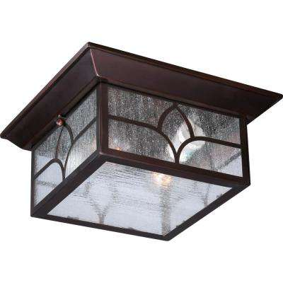 Quinn Claret Bronze 2-Light Outdoor Flush Mount