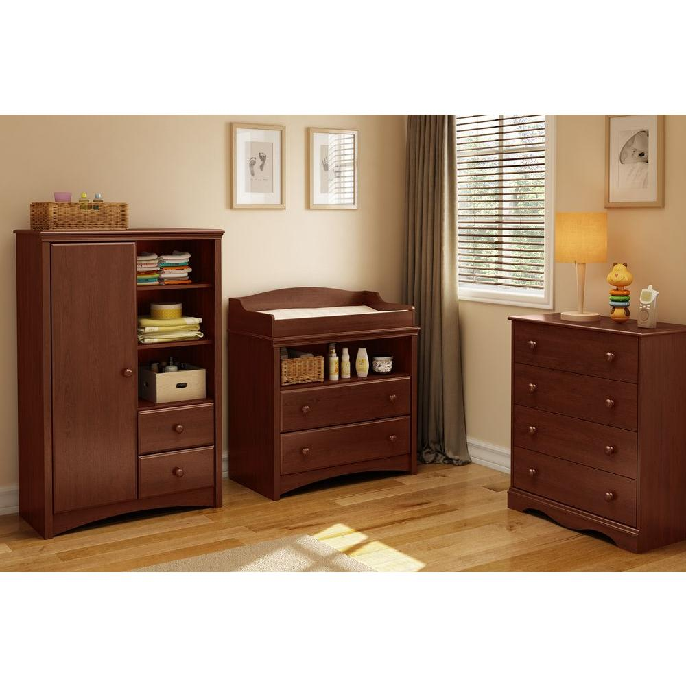 South Shore Sweet Morning 2 Drawer Royal Cherry Changing Table