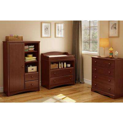 Sweet Morning 2-Drawer Royal Cherry Changing Table