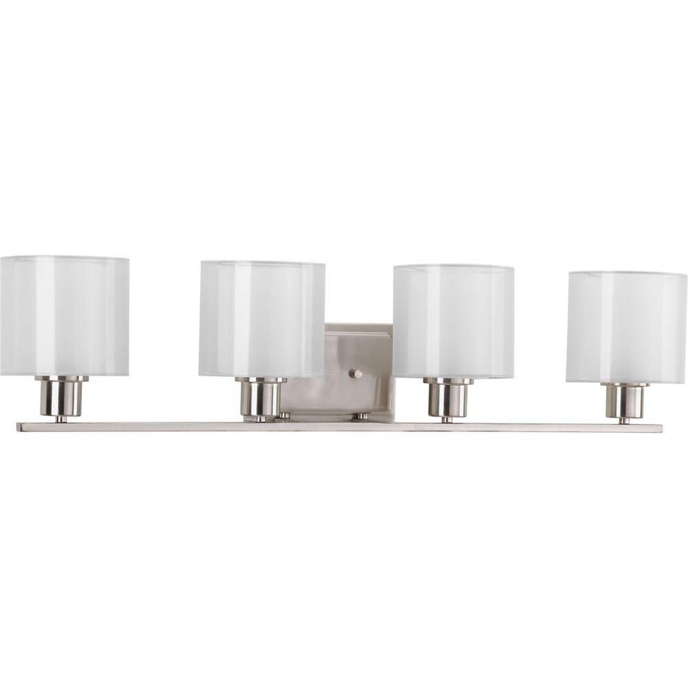 Invite Collection 4-Light Brushed Nickel Bath Light