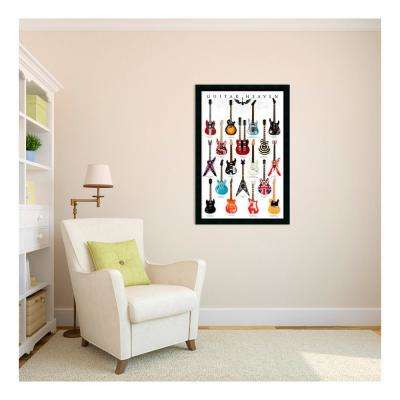 26 in. x 38 in. Outer Size Guitar Heaven Framed Art Print