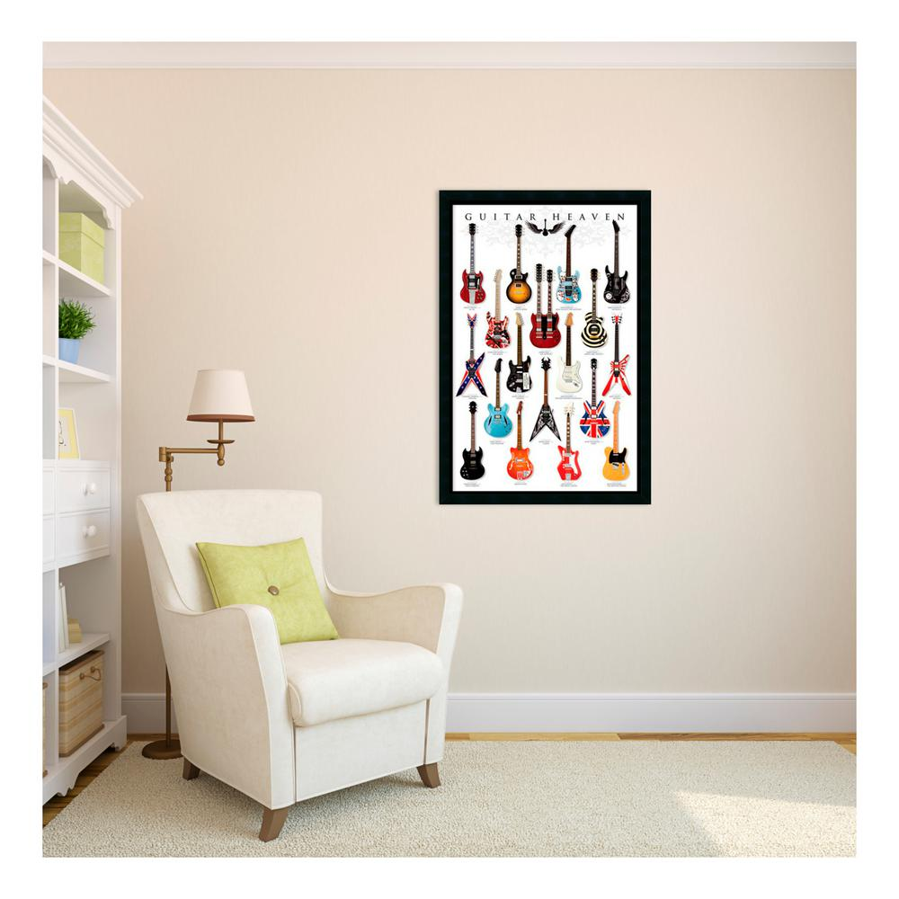 Amanti Art 26 in. x 38 in. Outer Size Guitar Heaven Framed Art Print ...
