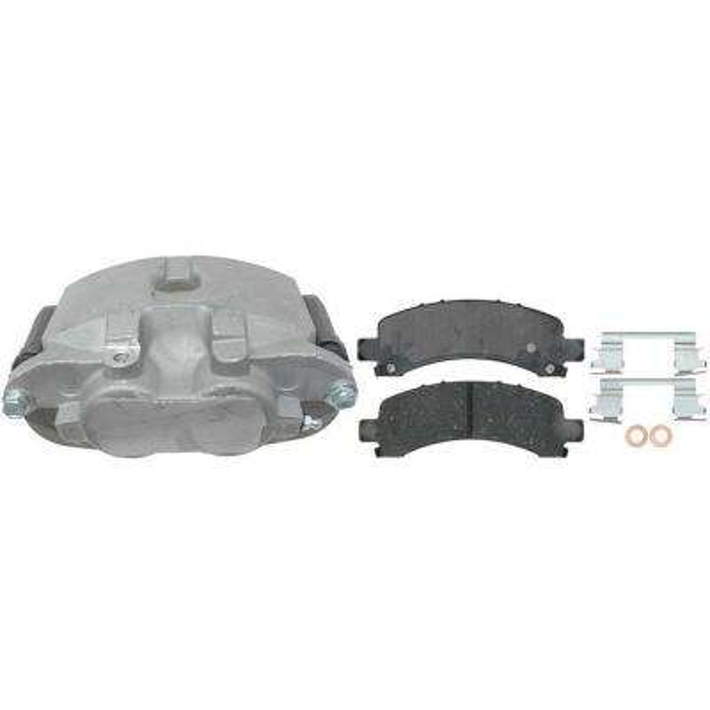 Reman Enhanced Hybrid Technology Loaded Caliper w/Bracket - Rear Right
