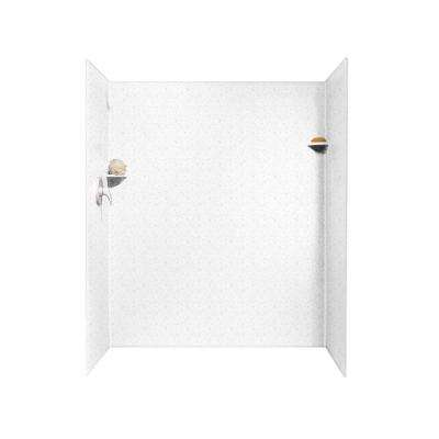36 in. x 60 in. x 72 in. 3-Piece Easy Up Adhesive Alcove Shower Surround in Arctic Granite