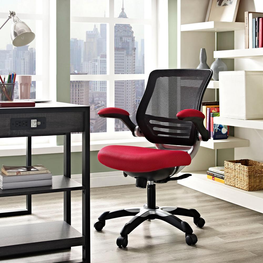 Edge Mesh Office Chair In Red