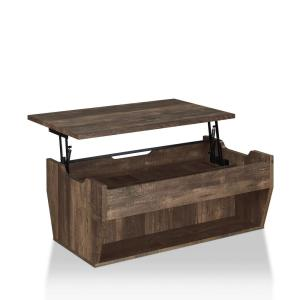 Anthem 42 in. Reclaimed Oak Large Rectangle Wood Coffee Table with Lift Top