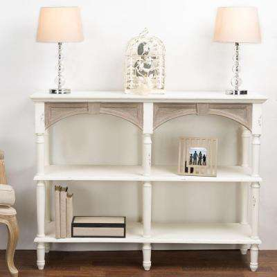 Touraine White and Light Brown Console Table