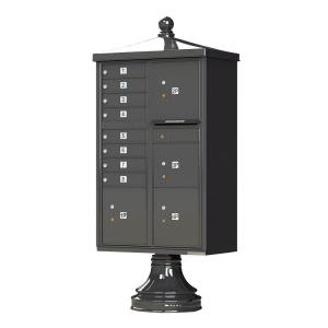 Florence 1570 Series 8 Mailboxes, 1 Outgoing, 4 Parcel Lockers, Vital Cluster Box Unit with Vogue Traditional... by Florence