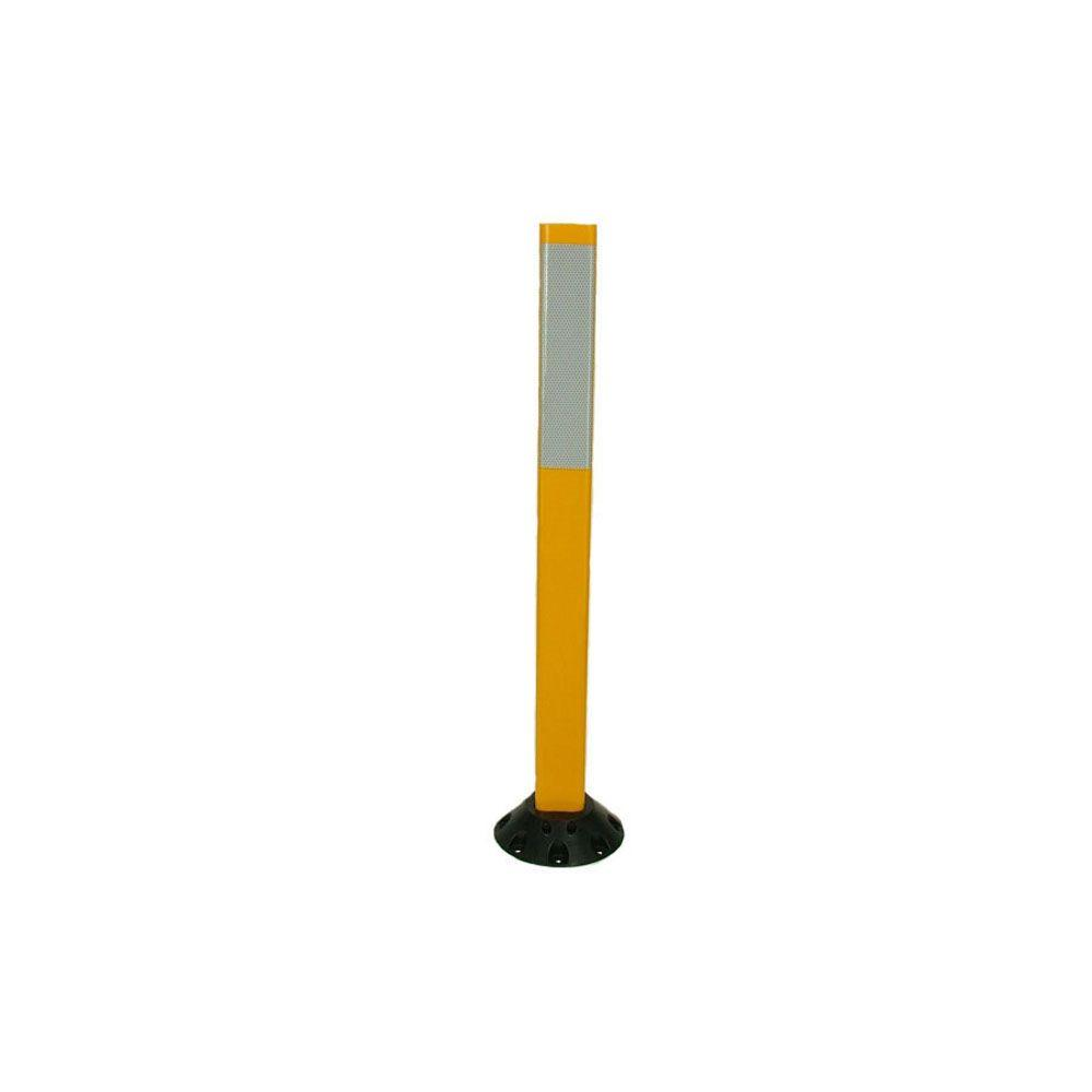 Three D Traffic Works 36 In Yellow Delineator Post And Base With 3
