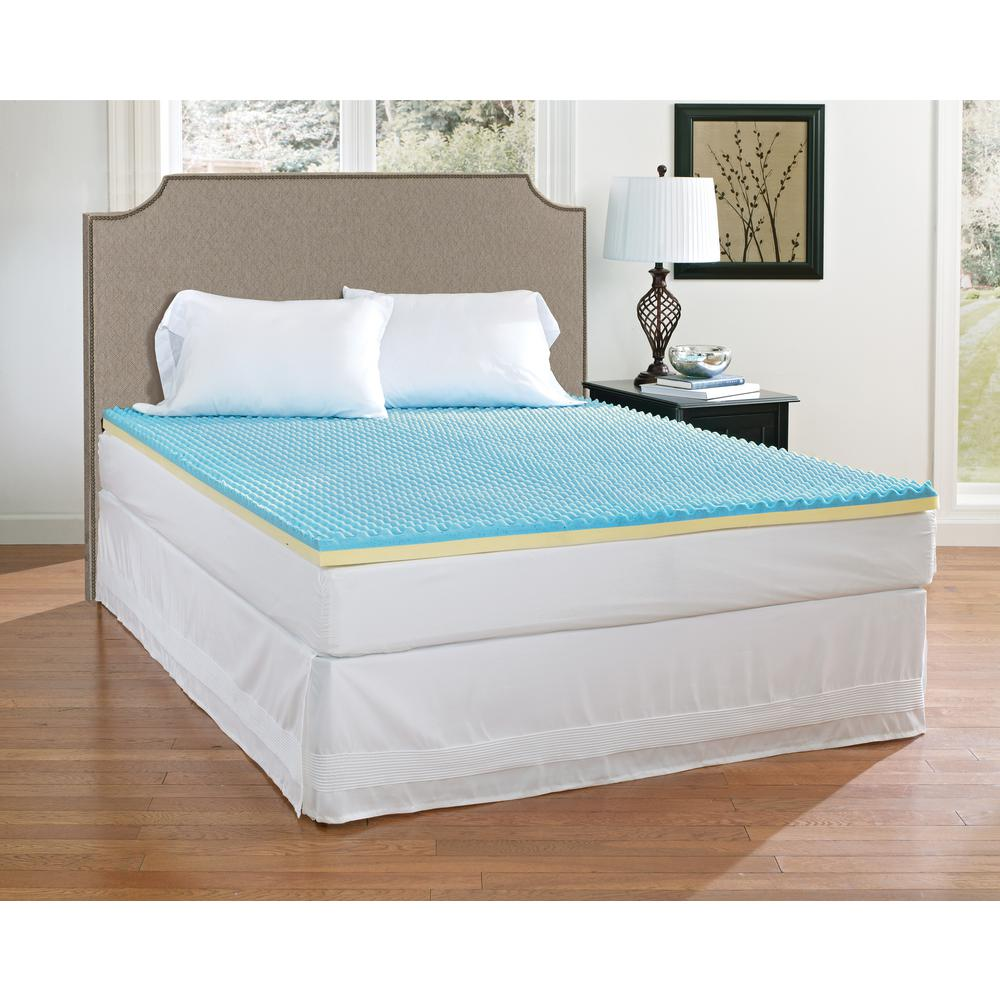 Broyhill 2 in twin xl gel memory foam mattress topper imtop201txl the home depot Memory foam mattress topper twin