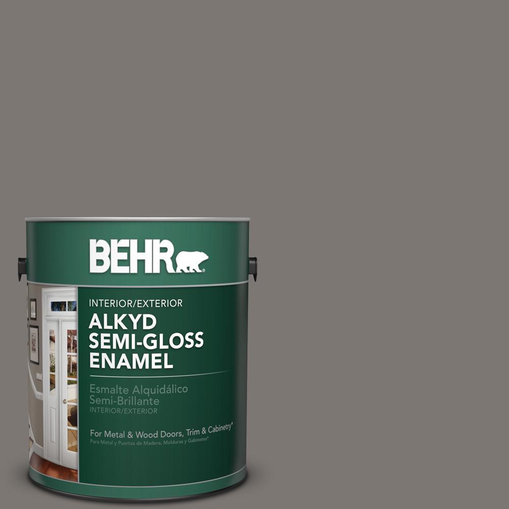 1 gal. #790F-5 Amazon Stone Semi-Gloss Enamel Alkyd Interior/Exterior Paint