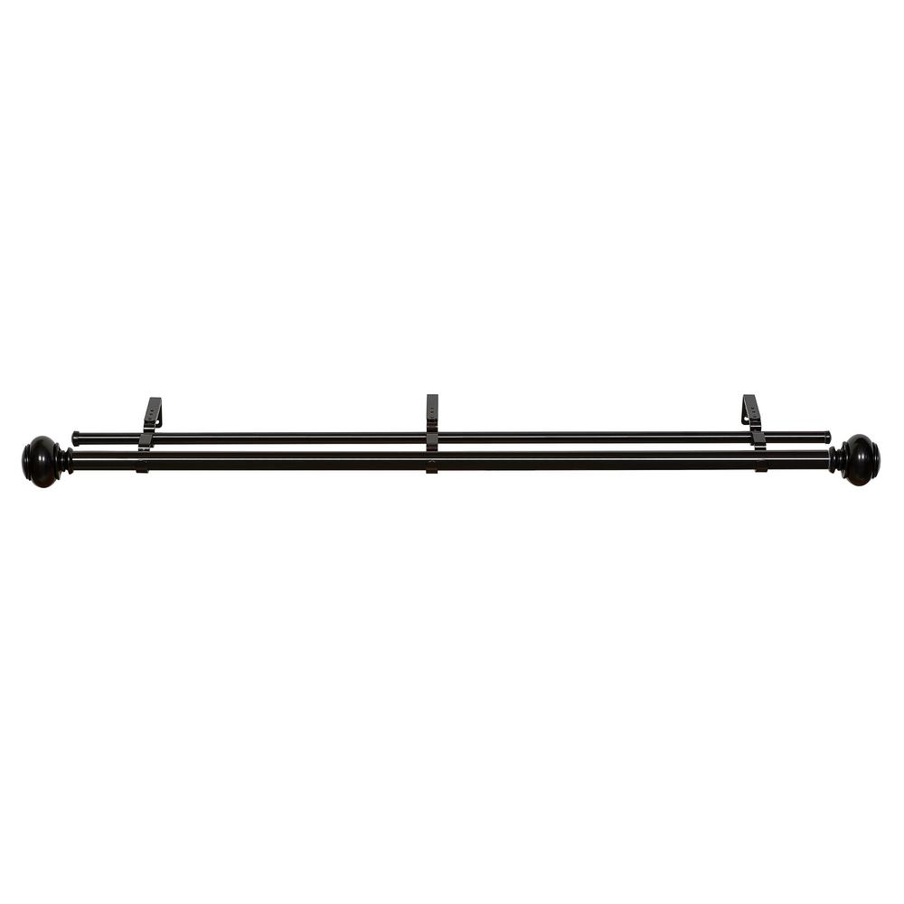 Buono II 36 in. to 72 in. Brenner Decorative Double Rod
