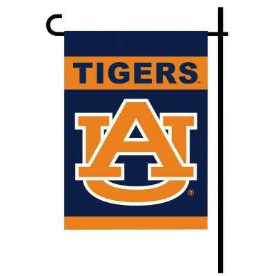 NCAA 13 in. x 18 in. Auburn 2-Sided Garden Flag Set with 4 ft. Metal Flag Stand