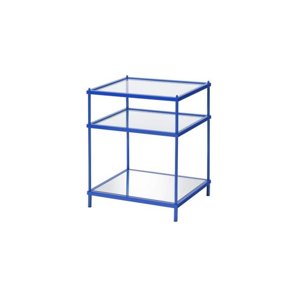 Upland 24 in. Blue Side Table