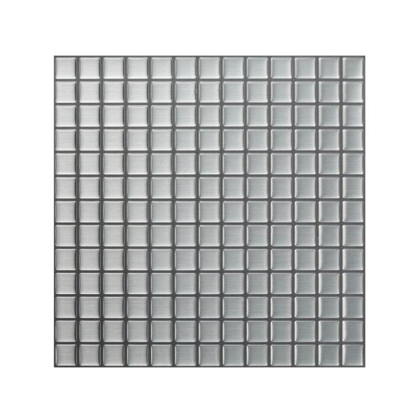 Tic Tac Tiles Stainless Steel 12 In W