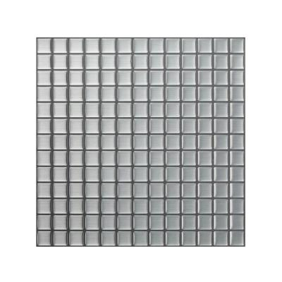 Stainless Steel 12 in. W x 12 in. H Peel and Stick Decorative Mosaic Wall Tile Backsplash (5 Tiles)