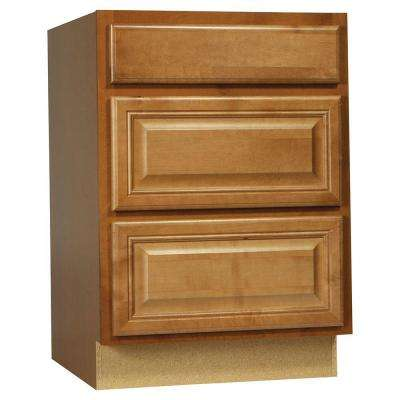 Cambria Assembled 24x34.5x24 in. Drawer Base Kitchen Cabinet with Ball-Bearing Drawer Glides in Harvest