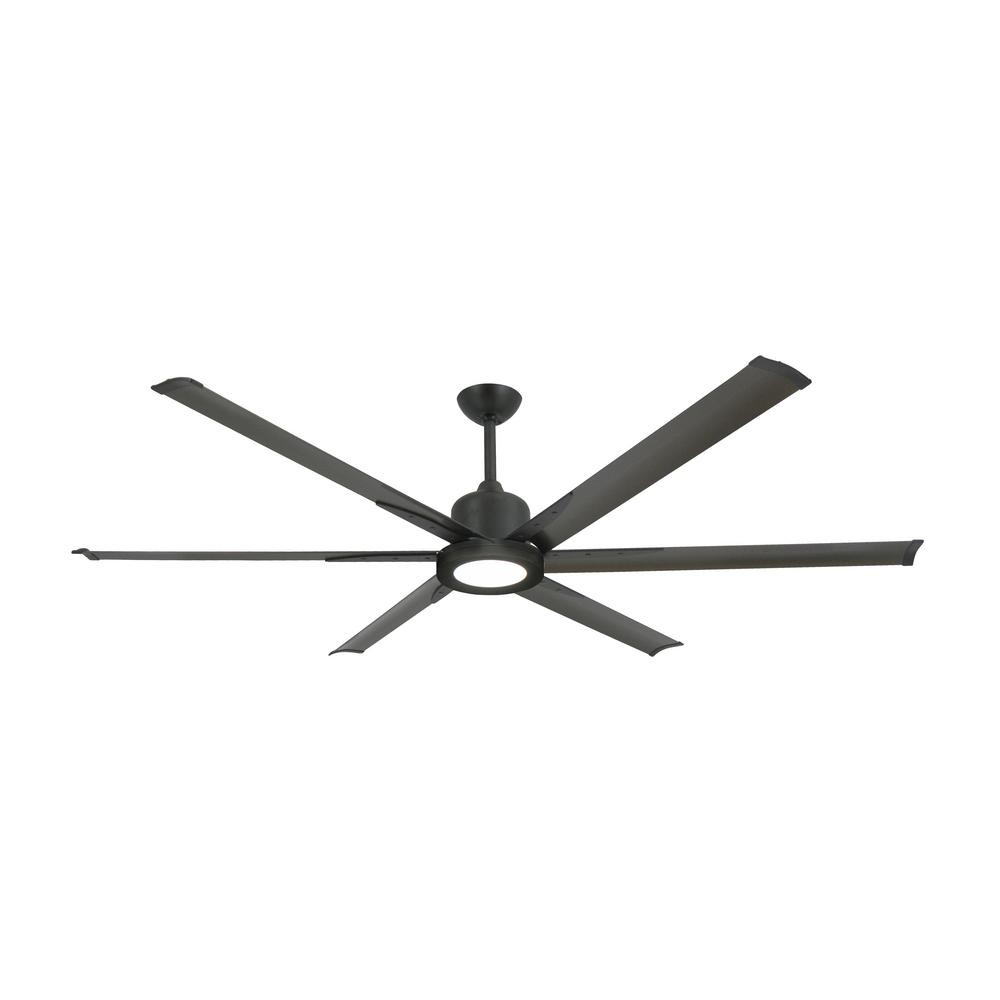 TroposAir Titan II 72 in. LED Indoor/Outdoor Oil Rubbed Bronze Ceiling Fan with Remote Control