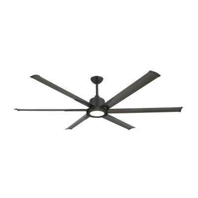Titan II 72 in. LED Indoor/Outdoor Oil Rubbed Bronze Ceiling Fan with Remote Control