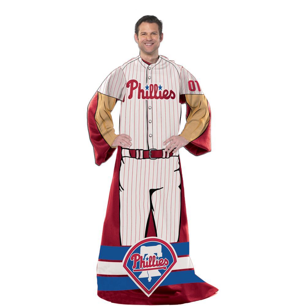 "Northwest MLB Philadelphia Phillies Comfy Throws WHITE/RED/BLUE/TAN 46"" X 71"""