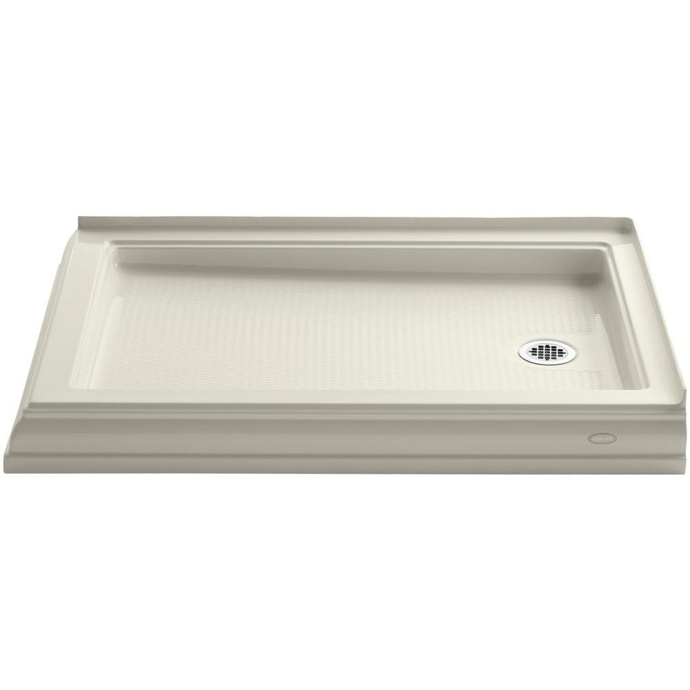 KOHLER Memoirs 48 in. x 34 in. Double Threshold Shower Base in Biscuit