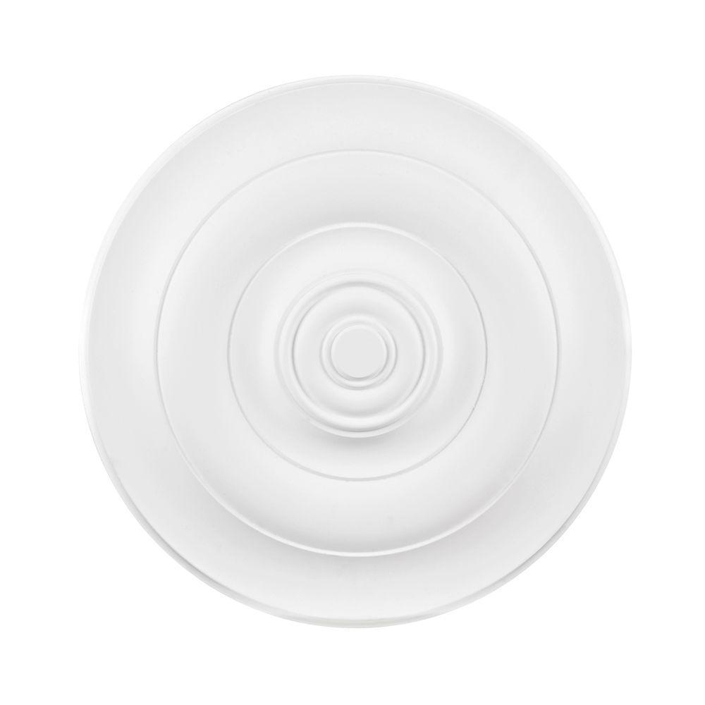 Titan Lighting 22 in. White Ceiling Medallion