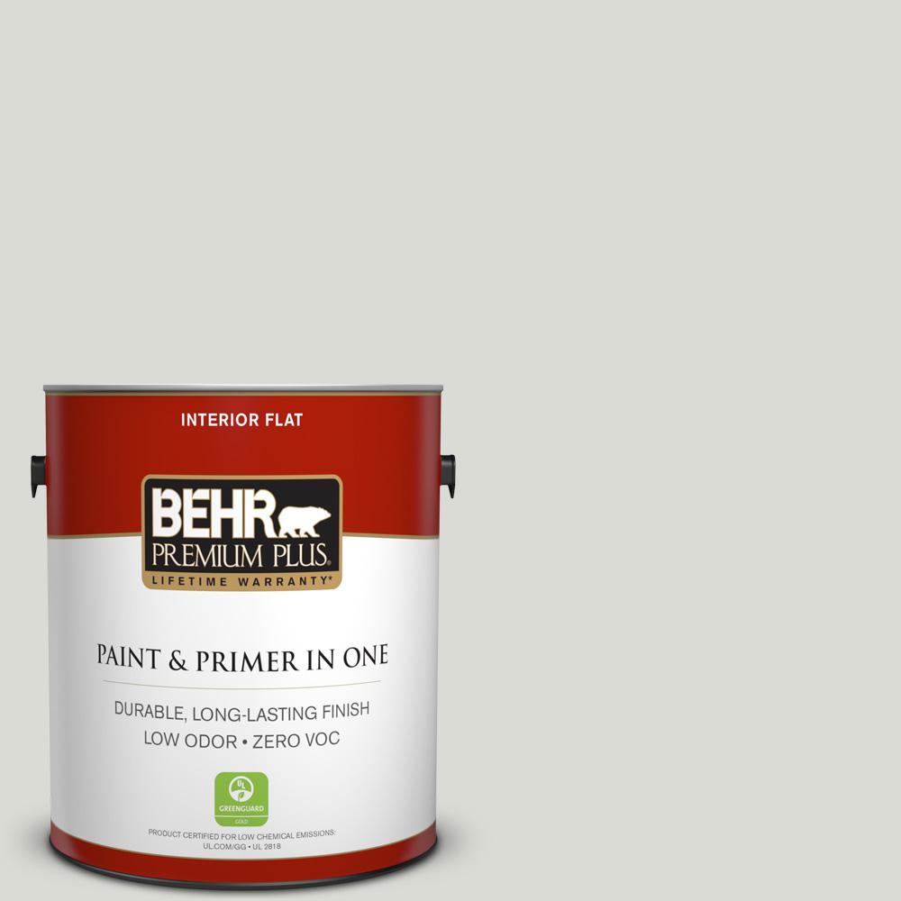 BEHR Premium Plus 1-gal. #BWC-29 Silver Feather Flat Interior Paint