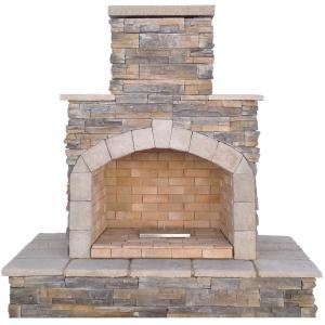 Sunjoy Seneca 51 In Wood Burning Outdoor Fireplace L Of083pst 2