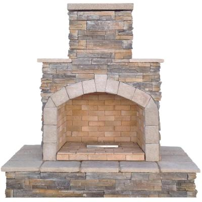 Necessories Bluestone Compact Outdoor Fireplace 4200038 The Home Depot