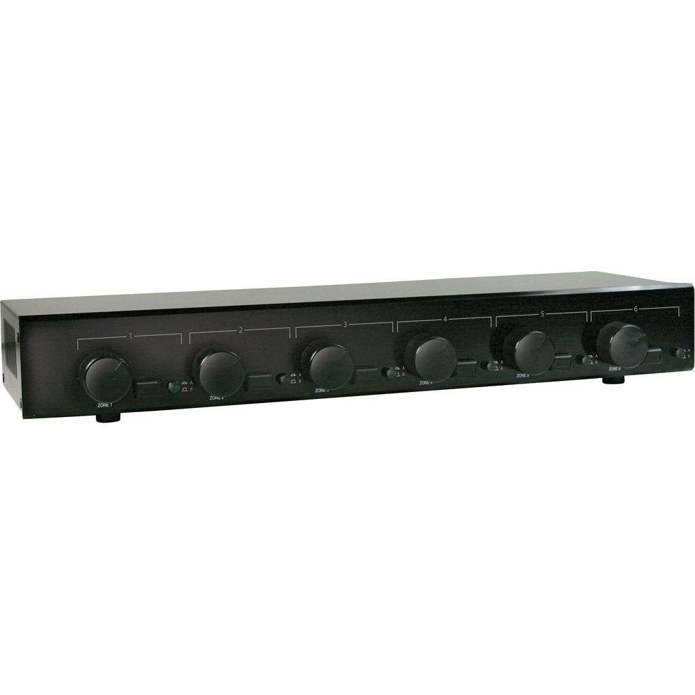 Sima MGM 6-Zone 100-Watt Dual-Amp Speaker Selector with Volume Control-DISCONTINUED