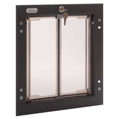 9 in. x 12 in. Door Mount Bronze Medium Dog Door