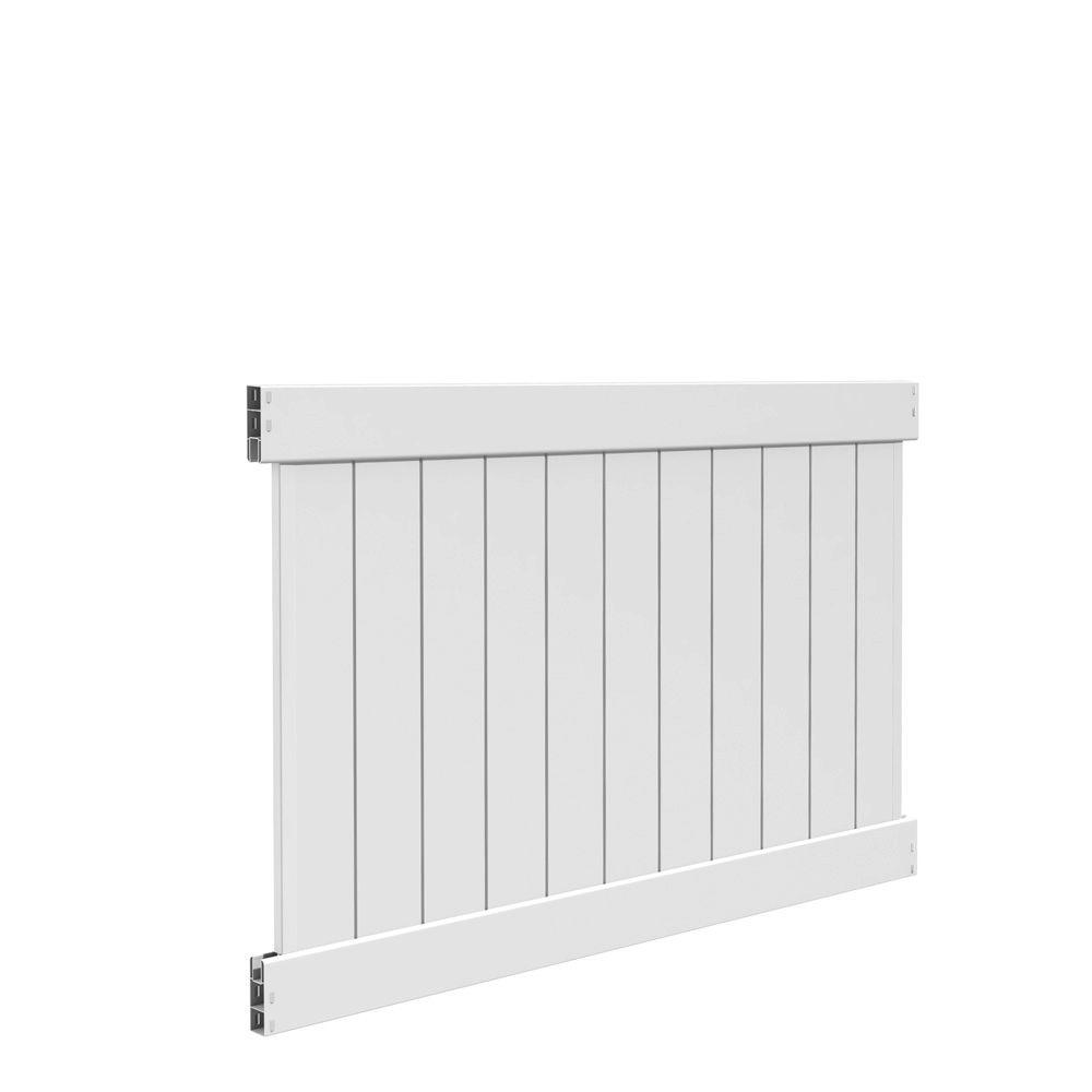 4 x 6 ft white vinyl fence panel unassembled lightweight. Black Bedroom Furniture Sets. Home Design Ideas