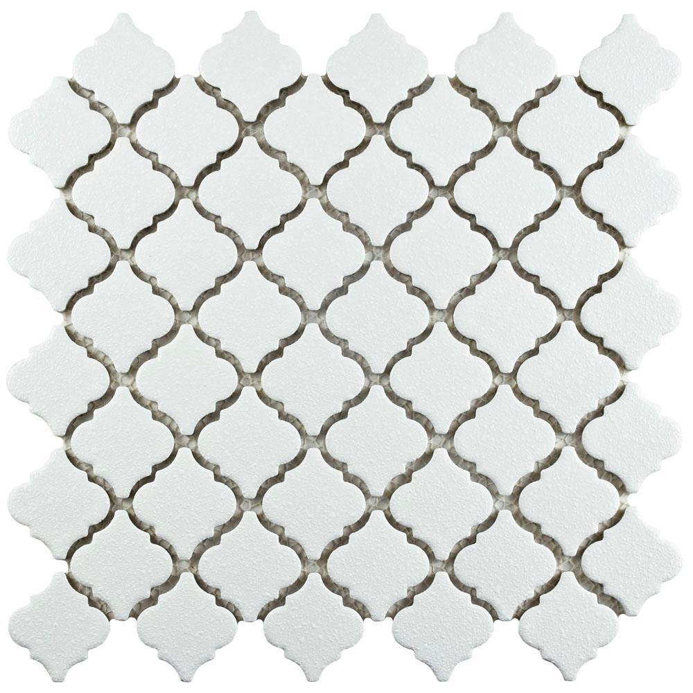 Hudson Tangier Crystalline White 12-3/8 in. x 12-1/2 in. x 5