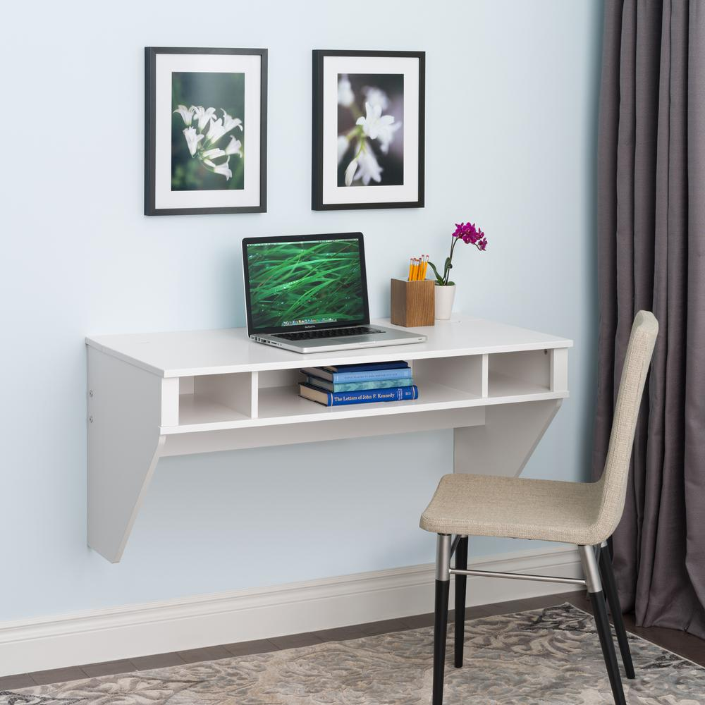 Attirant Prepac White Storage Desk