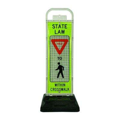 UVP School Crosswalk Yield Sign Panel with Rubber Base