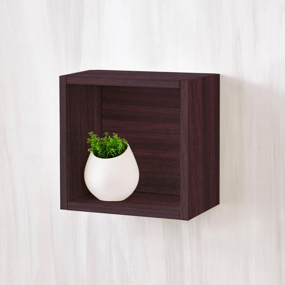 Way basics halifax 77 x 112 x 112 zboard wall cube decorative way basics halifax 77 x 112 x 112 zboard wall cube decorative floating shelf in espresso amipublicfo Image collections