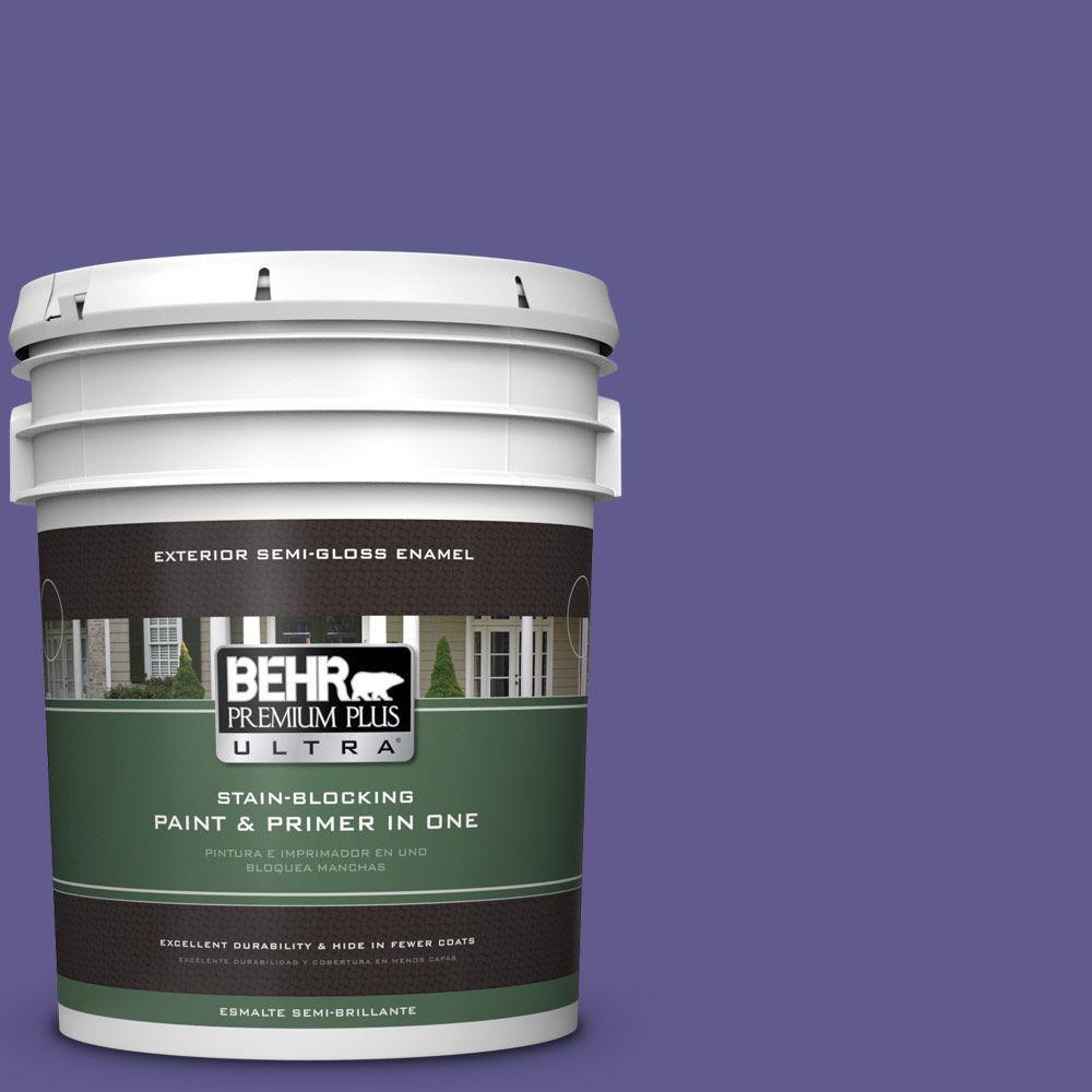 BEHR Premium Plus Ultra 5-gal. #S-G-630 Majestic Purple Semi-Gloss Enamel Exterior Paint