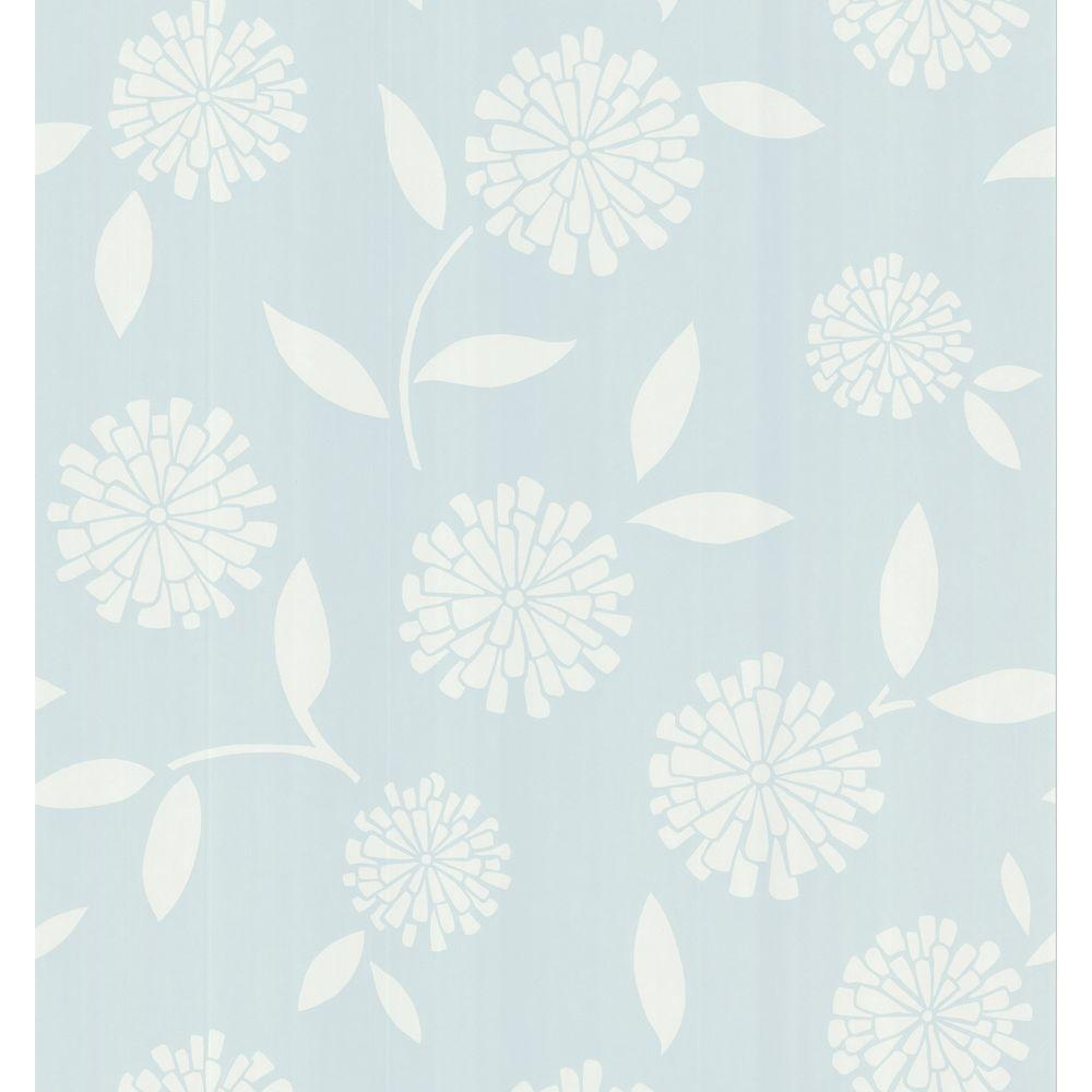 Brewster 8 in. W x 10 in. H Zinnia Floral Wallpaper Sample