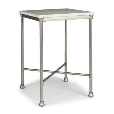 Orleans White and Gray Bar Table