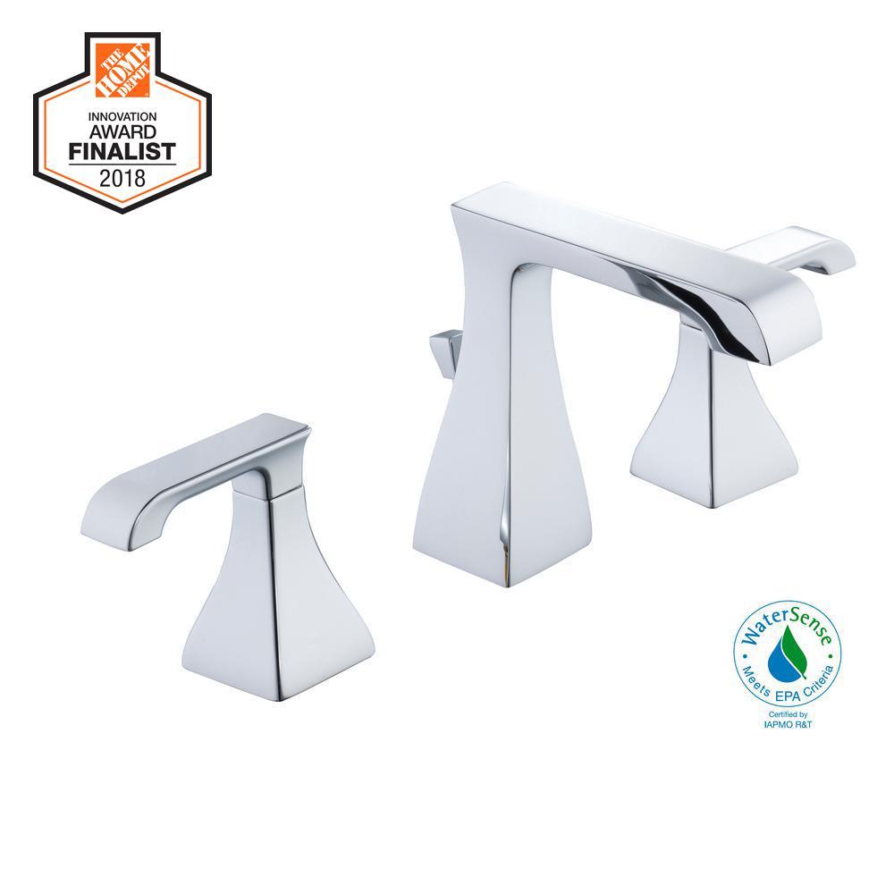 Glacier Bay Adelyn 8 in. Widespread 2-Handle High-Arc Bathroom Faucet in Chrome